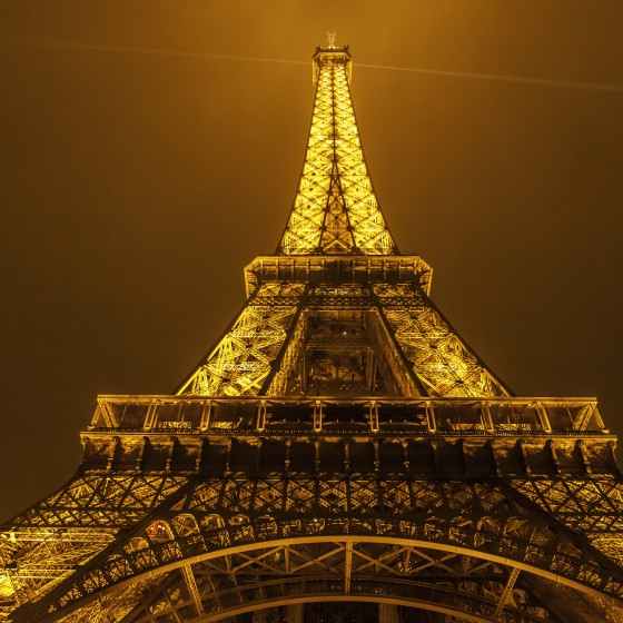 Eiffel Tower Lit Up